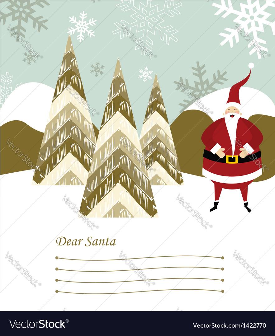 Santa claus letter vector   Price: 1 Credit (USD $1)