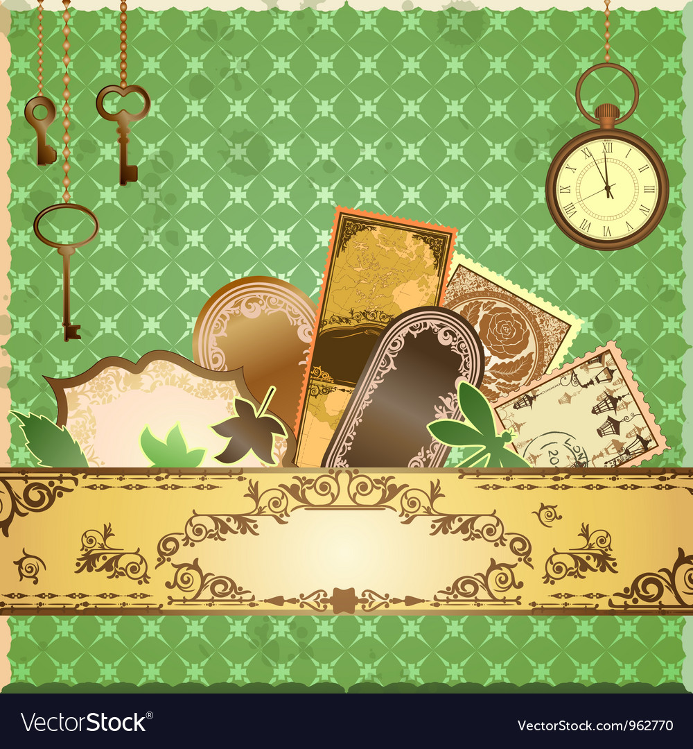 Scrapbooking luxury card vector | Price: 1 Credit (USD $1)
