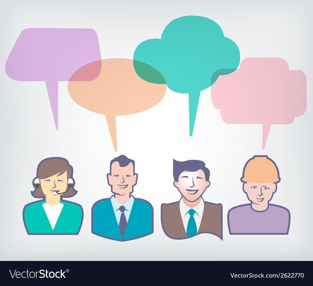 Speech baloons people vector