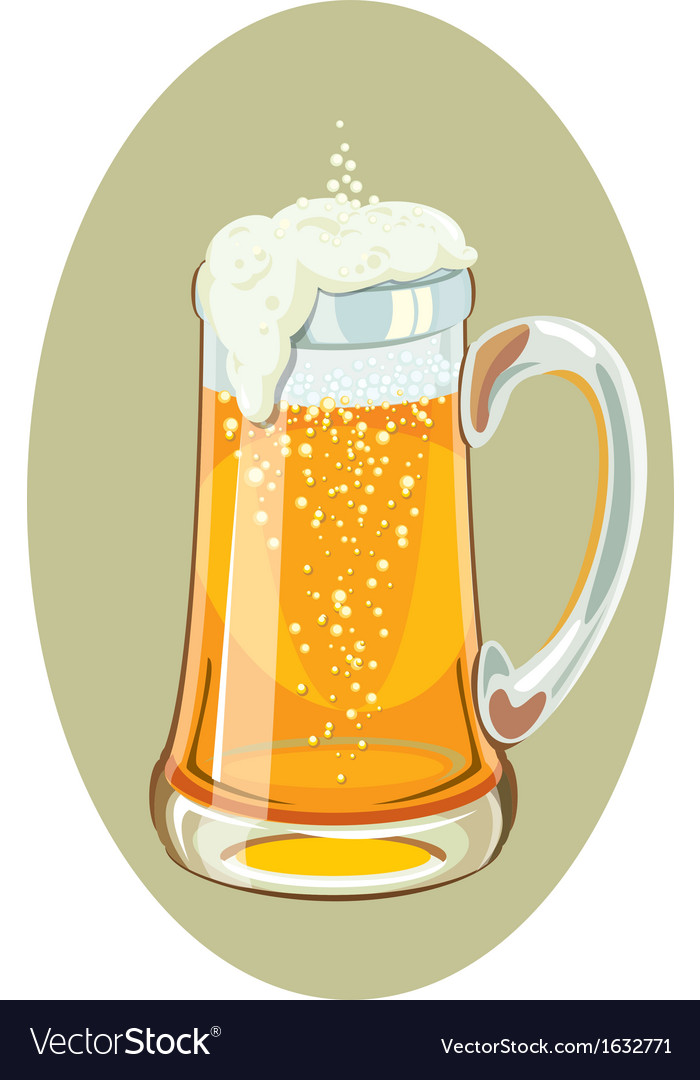 A mug full of cold beer vector | Price: 1 Credit (USD $1)