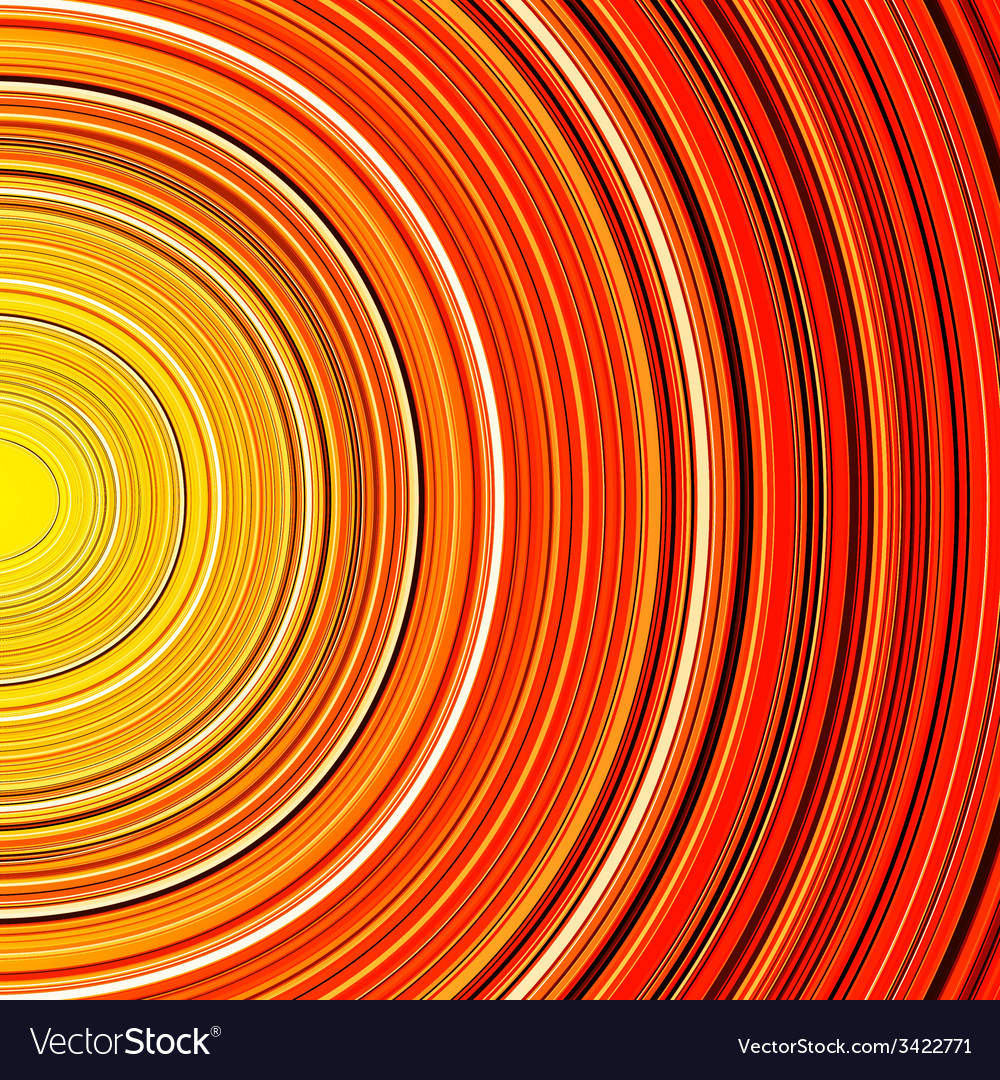Abstract red and orange circle stripes colorful vector | Price: 1 Credit (USD $1)