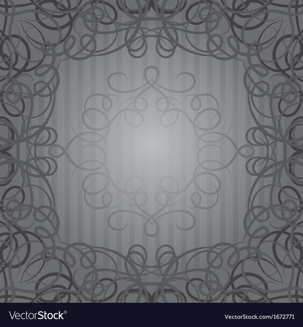 Background with ornamental curly frame in retro vector | Price: 1 Credit (USD $1)