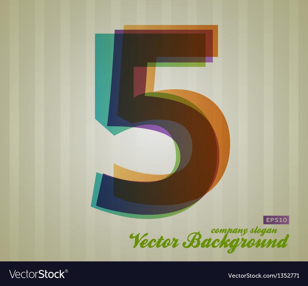 Color transparency symbol 5 vector | Price: 1 Credit (USD $1)