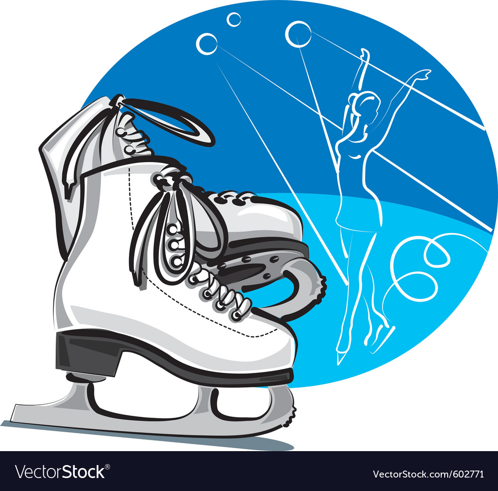 Figure skates vector | Price: 3 Credit (USD $3)