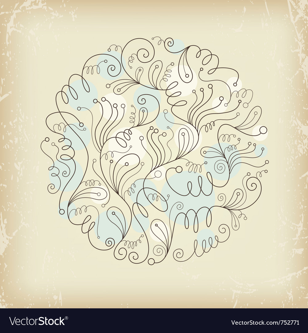 Floral composition on old paper vector | Price: 1 Credit (USD $1)