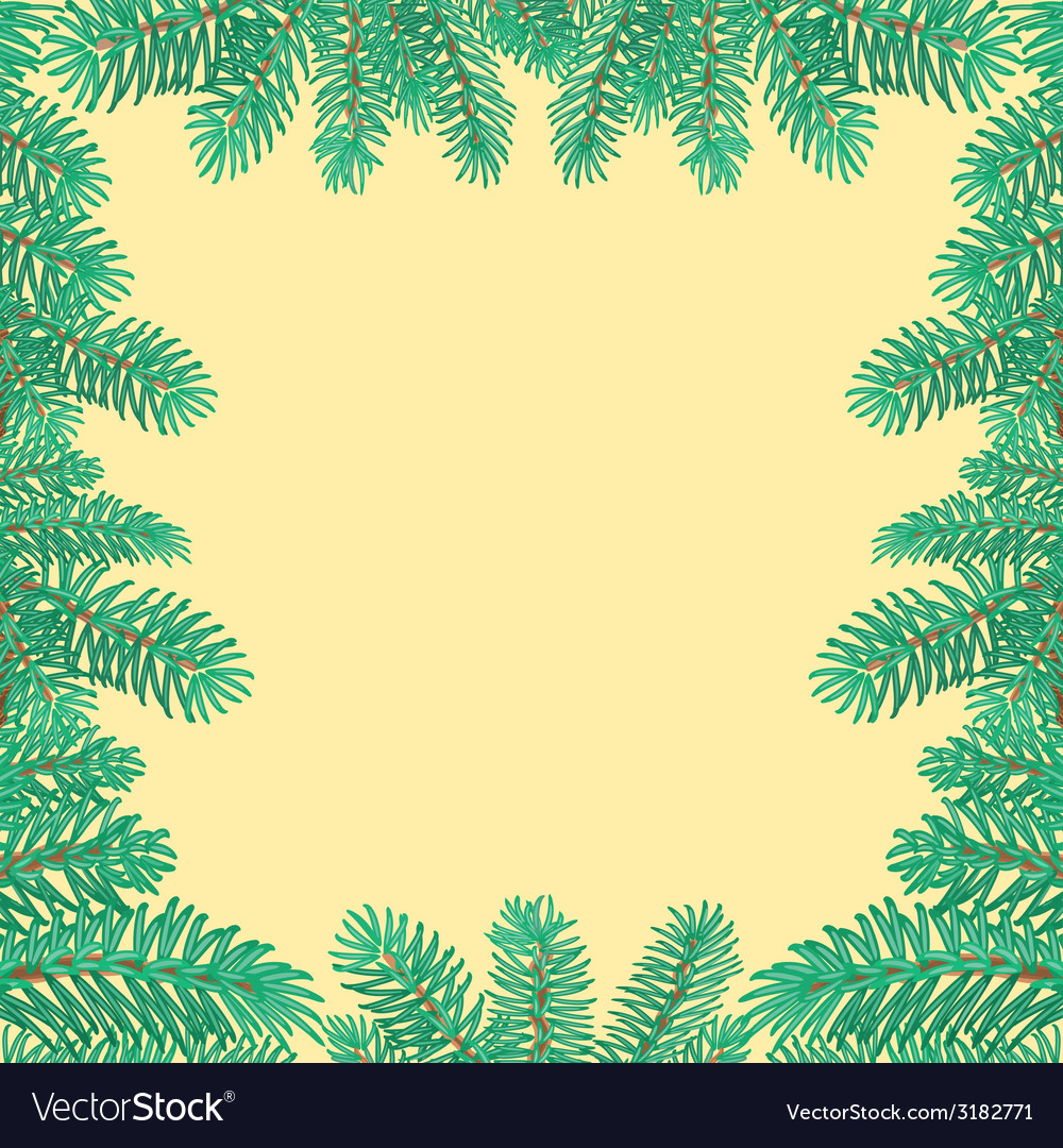 Frame of the branches of spruce textured vector | Price: 1 Credit (USD $1)