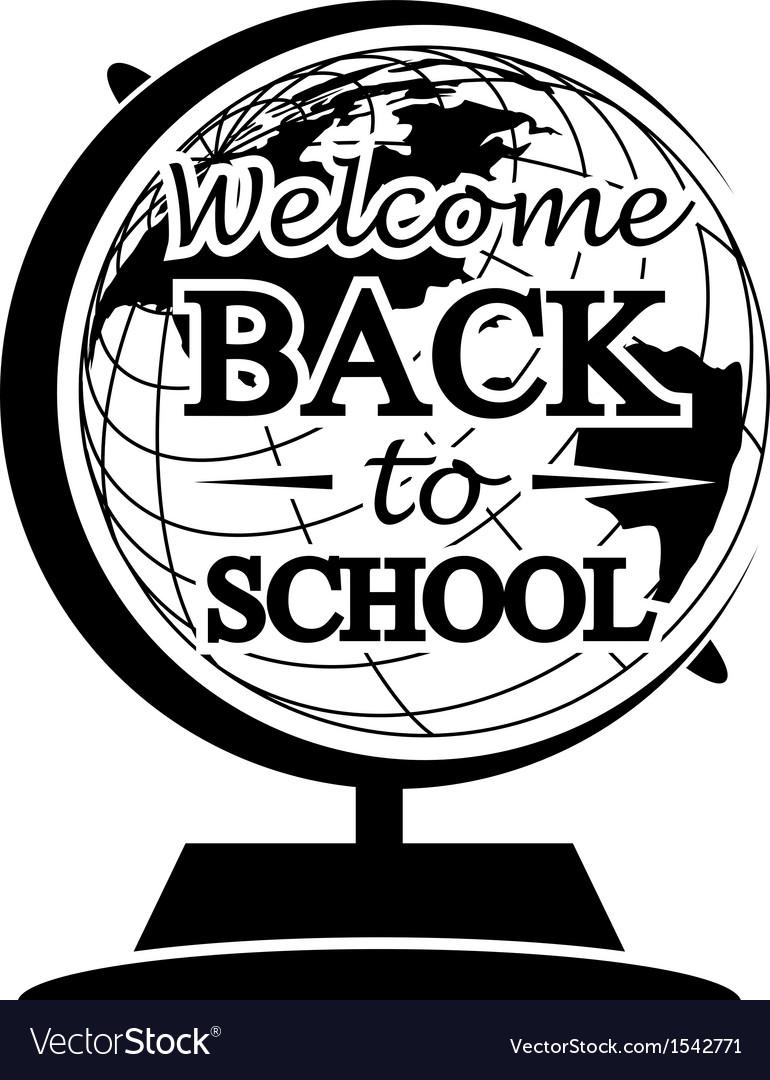 Globe back to school vector | Price: 1 Credit (USD $1)