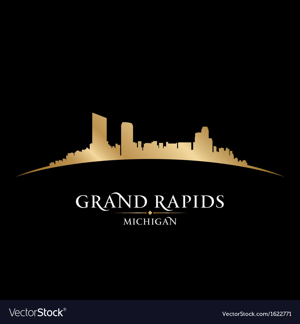 Grand rapids michigan city skyline silhouette vector | Price: 1 Credit (USD $1)