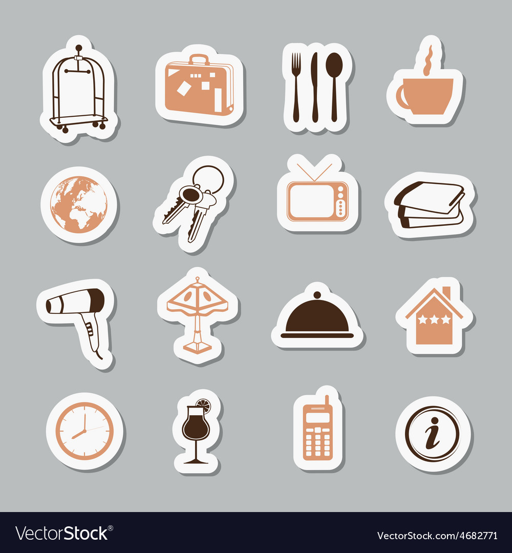 Hotel stickers vector | Price: 1 Credit (USD $1)