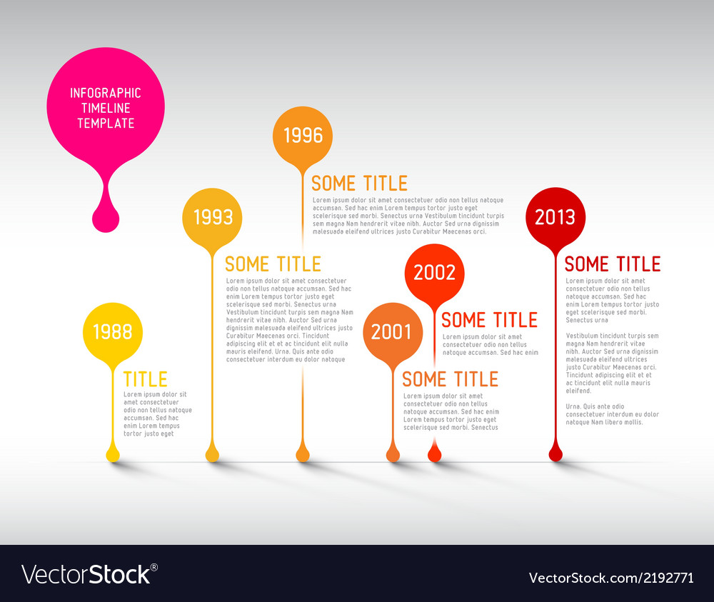 Infographic timeline report template with bubbles vector | Price: 1 Credit (USD $1)