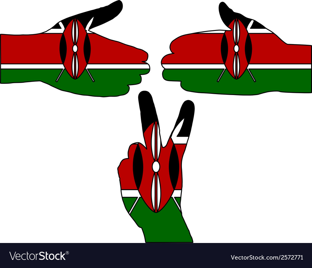 Kenya hand signal vector | Price: 1 Credit (USD $1)