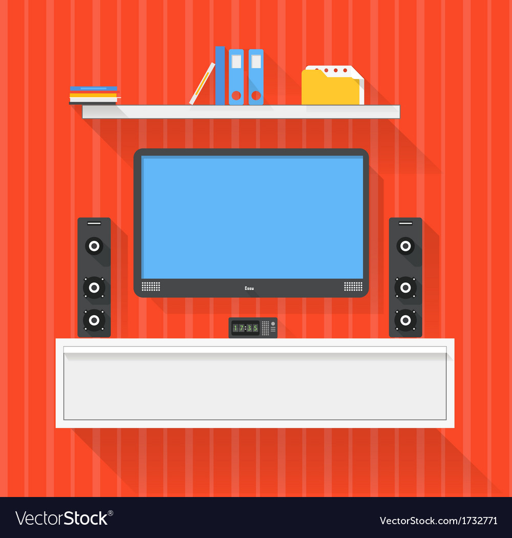 Modern home media entertainment system vector | Price: 1 Credit (USD $1)