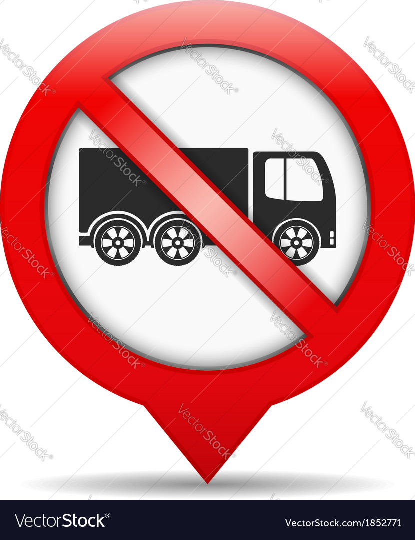 No trucks sign vector | Price: 1 Credit (USD $1)