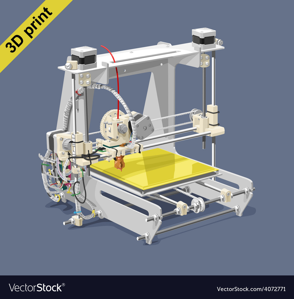 Plastic 3d printer vector | Price: 3 Credit (USD $3)