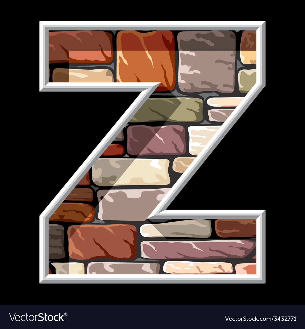 Stone letter z vector | Price: 1 Credit (USD $1)