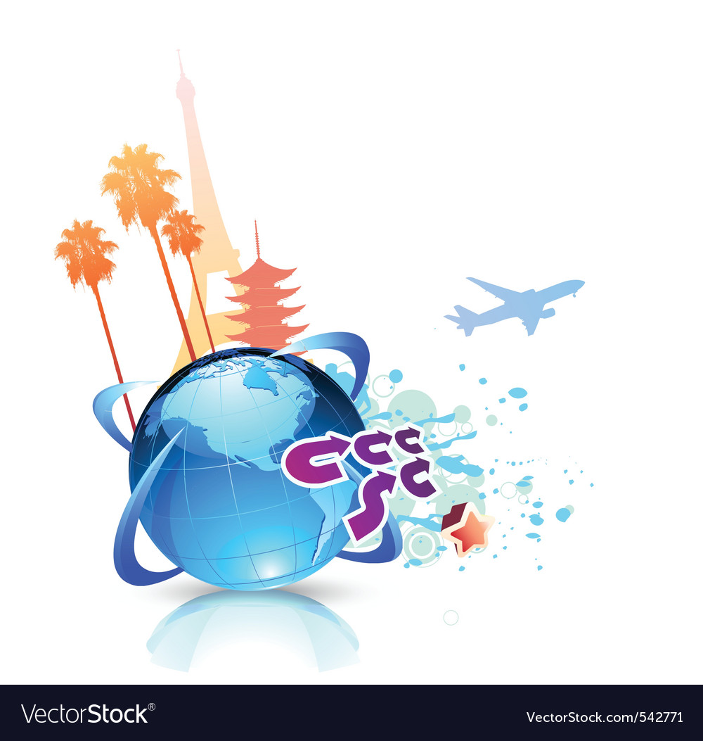 Summer travel background vector | Price: 1 Credit (USD $1)