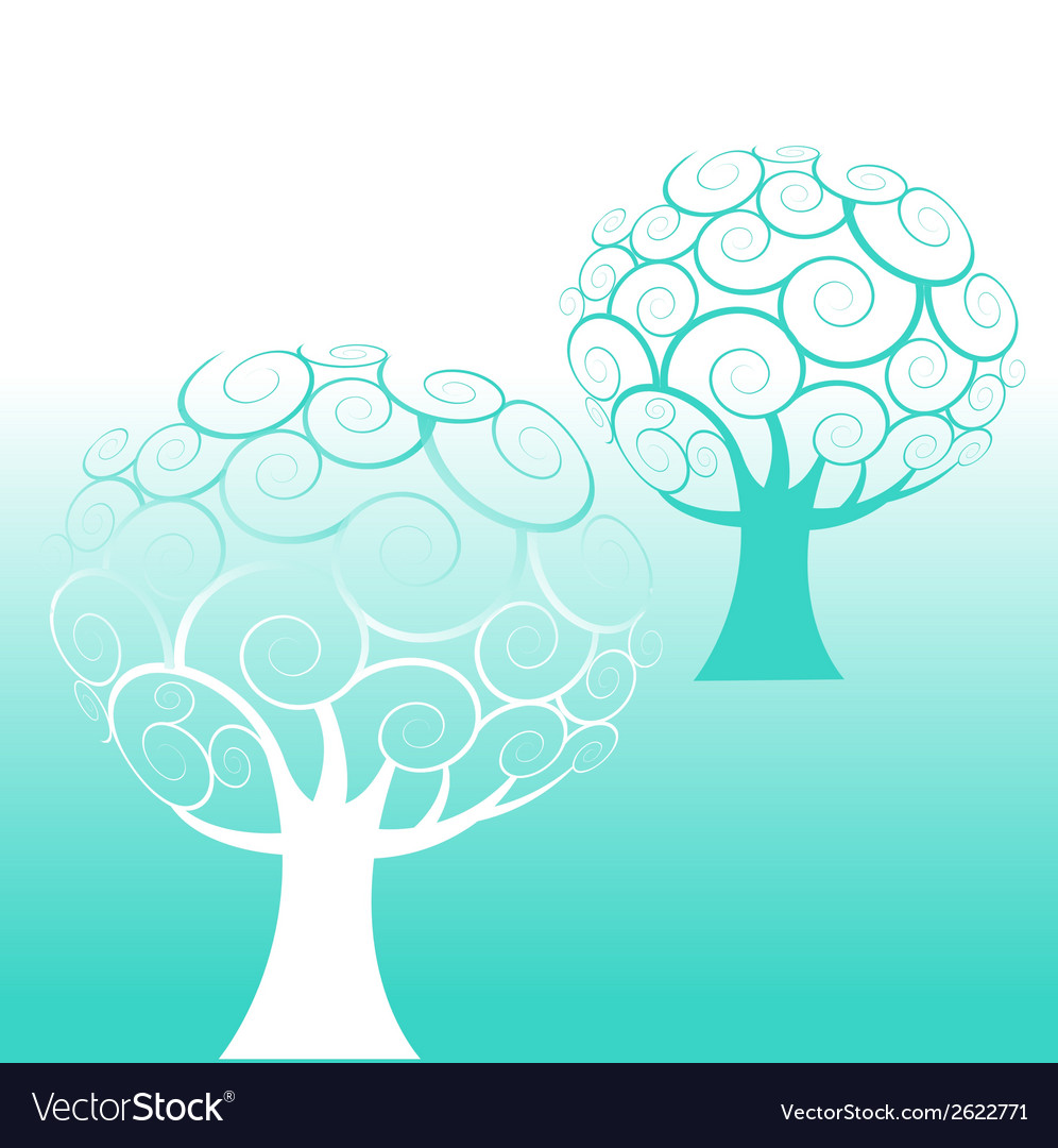 Two trees vector | Price: 1 Credit (USD $1)