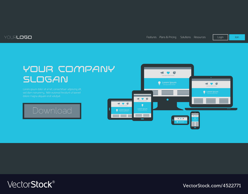 Website header or banner template vector | Price: 1 Credit (USD $1)