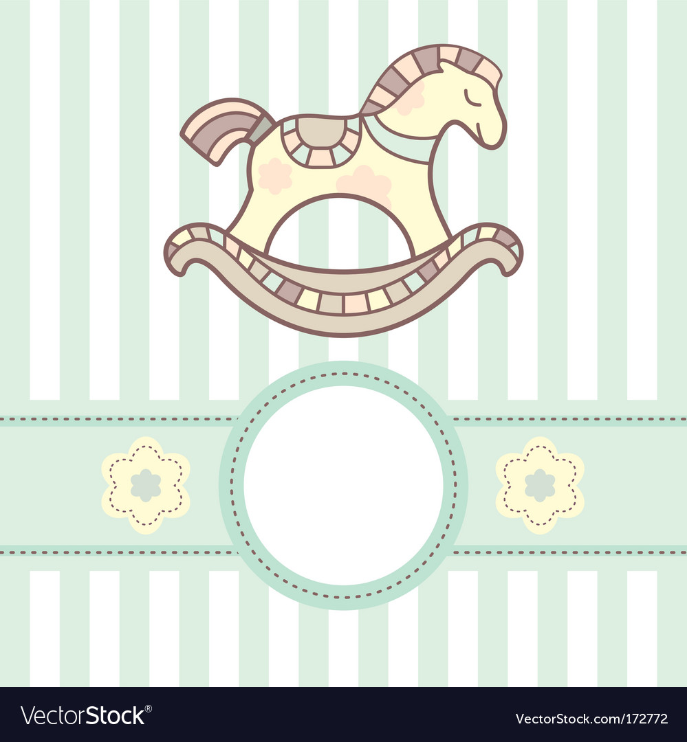 Baby card with lovely horsey vector | Price: 1 Credit (USD $1)