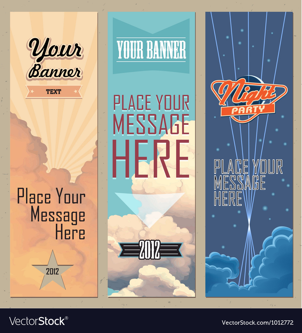 Banners vertical vector | Price: 3 Credit (USD $3)