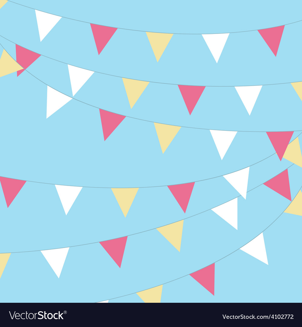 Coloured bunting on a sky background vector | Price: 1 Credit (USD $1)