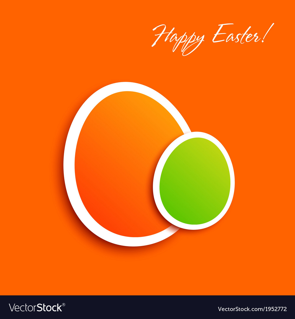 Easter greeting card eps10 vector | Price: 1 Credit (USD $1)