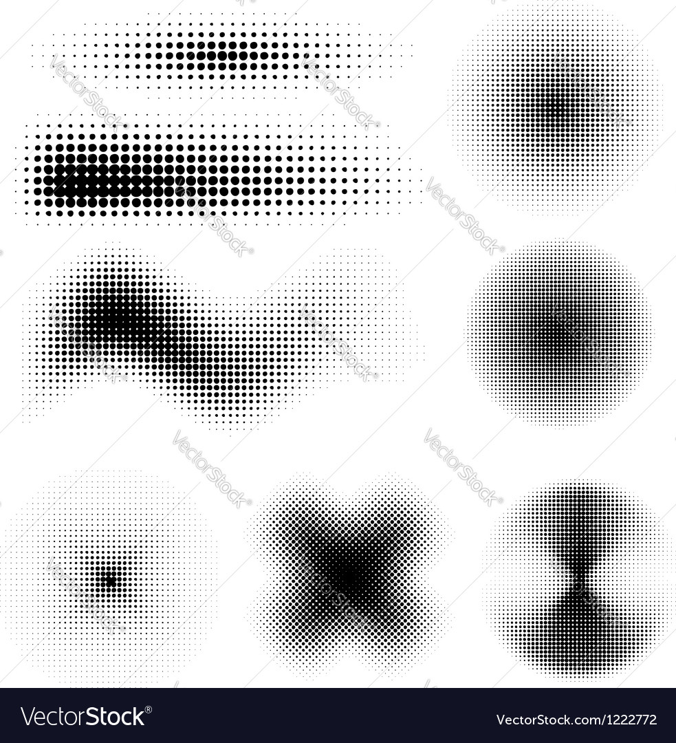Halftone set vector | Price: 1 Credit (USD $1)