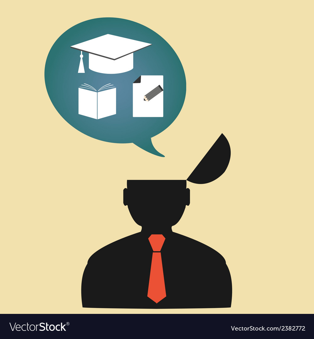 Icon person thinking about education vector | Price: 1 Credit (USD $1)