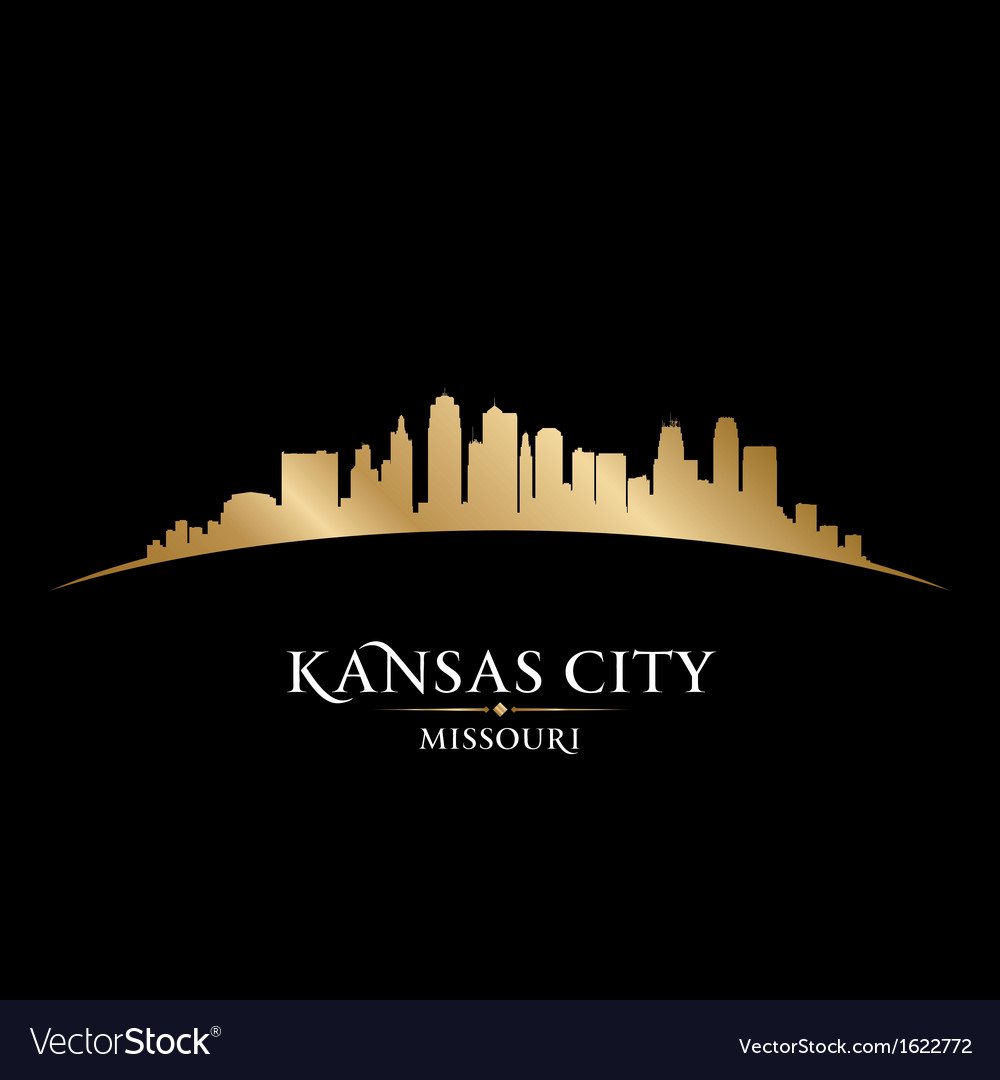 Kansas city missouri skyline silhouette vector | Price: 1 Credit (USD $1)