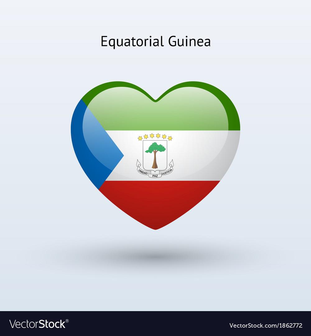Love equatorial guinea symbol heart flag icon vector   Price: 1 Credit (USD $1)