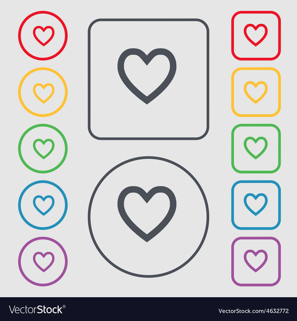Medical heart love icon sign symbol on the round vector | Price: 1 Credit (USD $1)