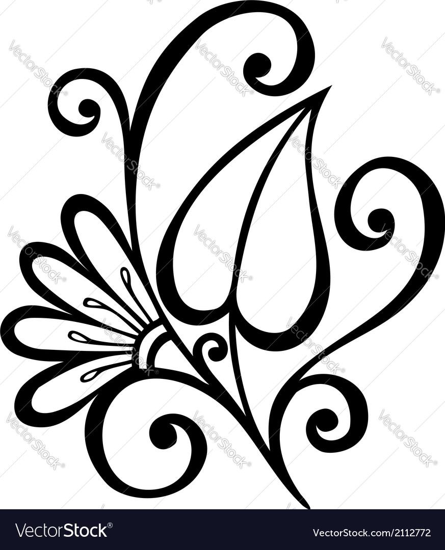 Original decorative leaf with ornament vector | Price: 1 Credit (USD $1)