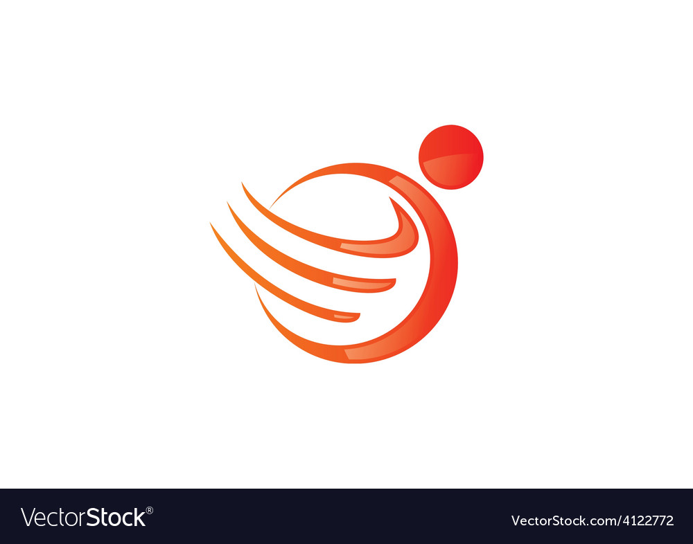 People round swirl wing logo vector | Price: 1 Credit (USD $1)