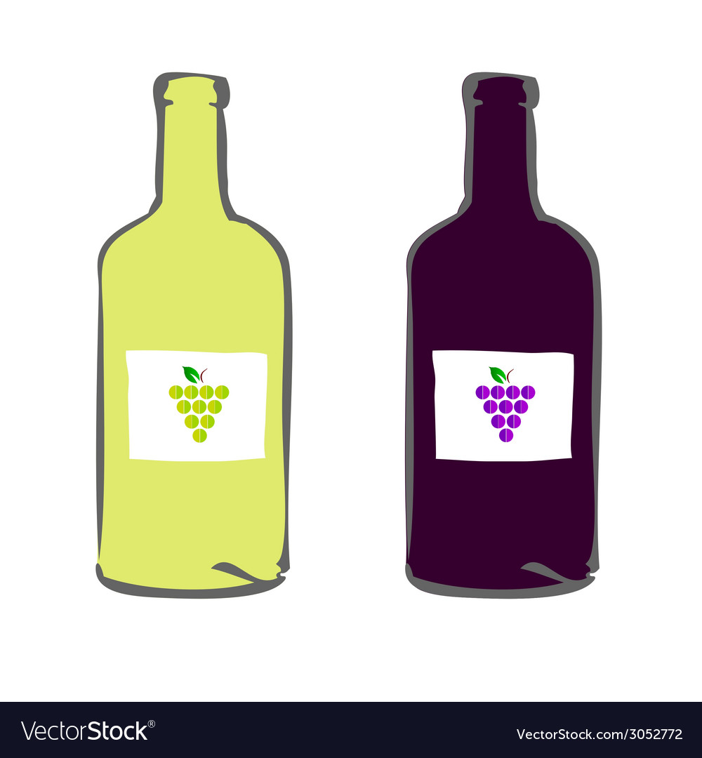 Red and white wine color vector | Price: 1 Credit (USD $1)