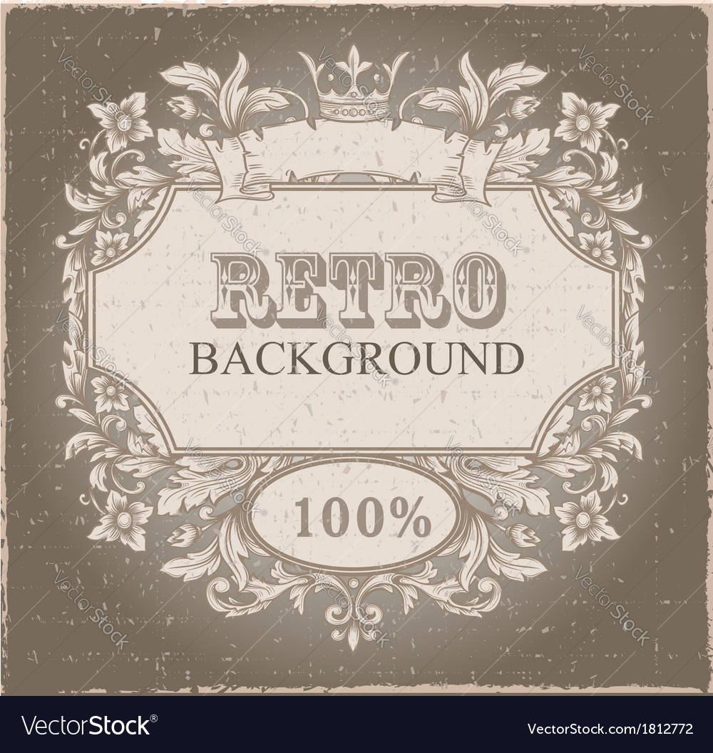 Retro vintage emblem vector | Price: 1 Credit (USD $1)