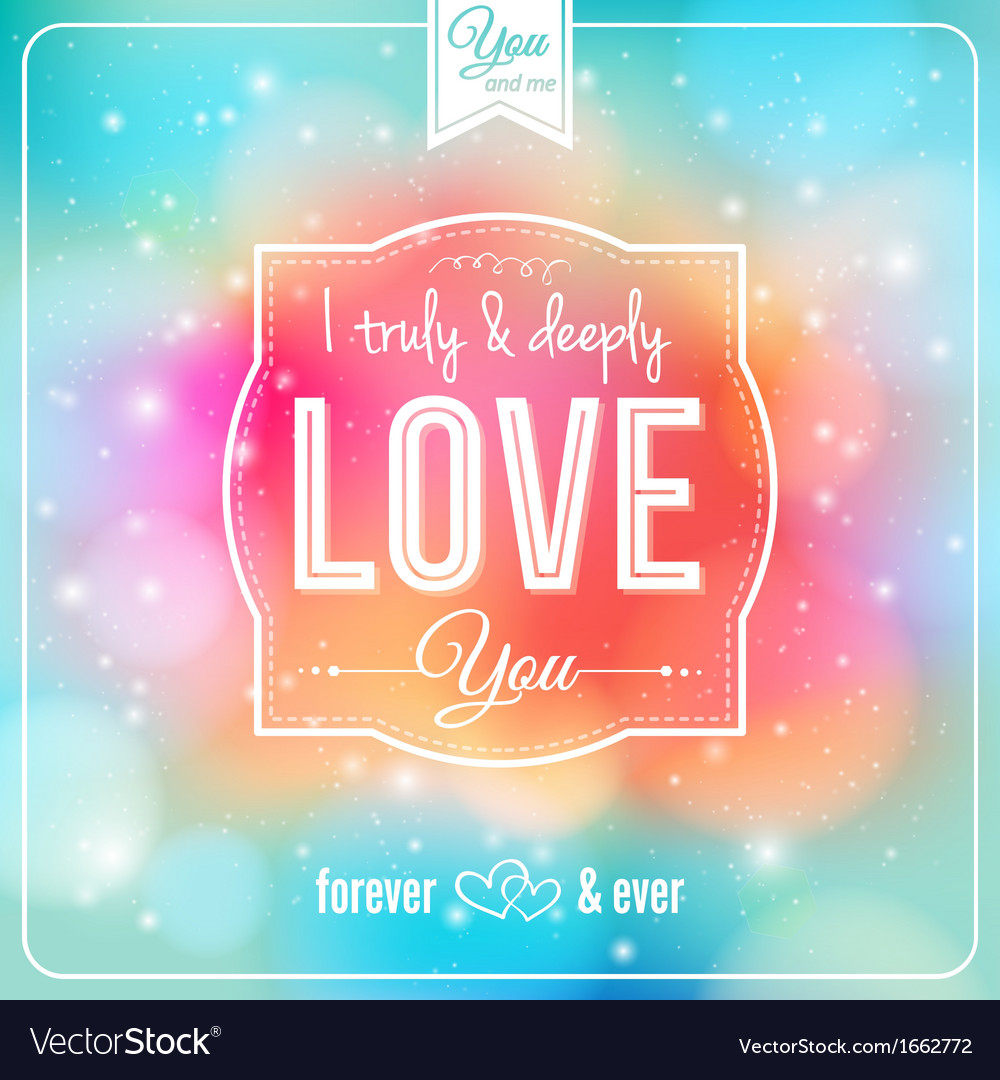 Romantic card on a soft fantasy background vector | Price: 1 Credit (USD $1)