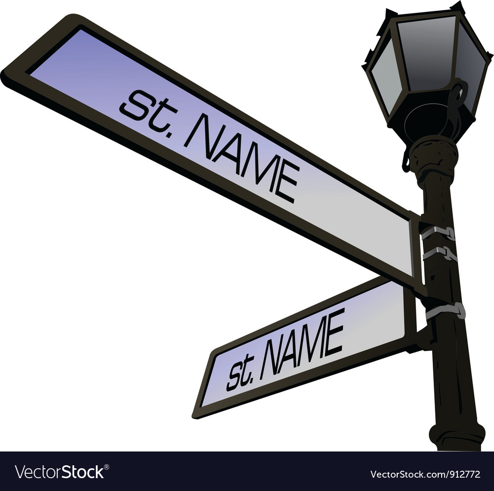 Street name post vector | Price: 1 Credit (USD $1)