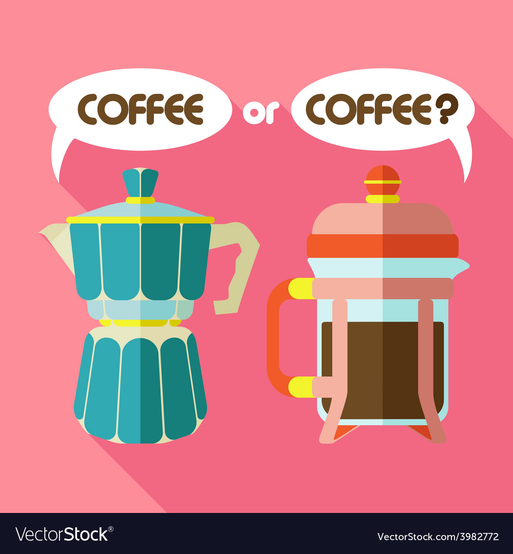 Two coffee vector | Price: 1 Credit (USD $1)