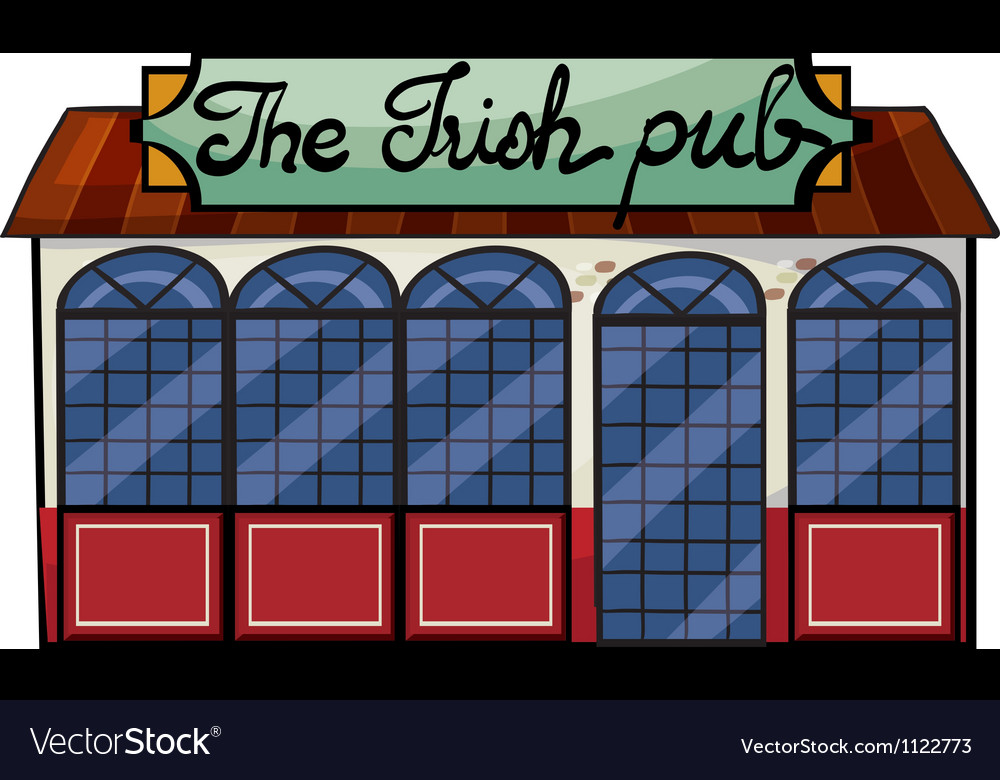 An irish pub vector | Price: 1 Credit (USD $1)