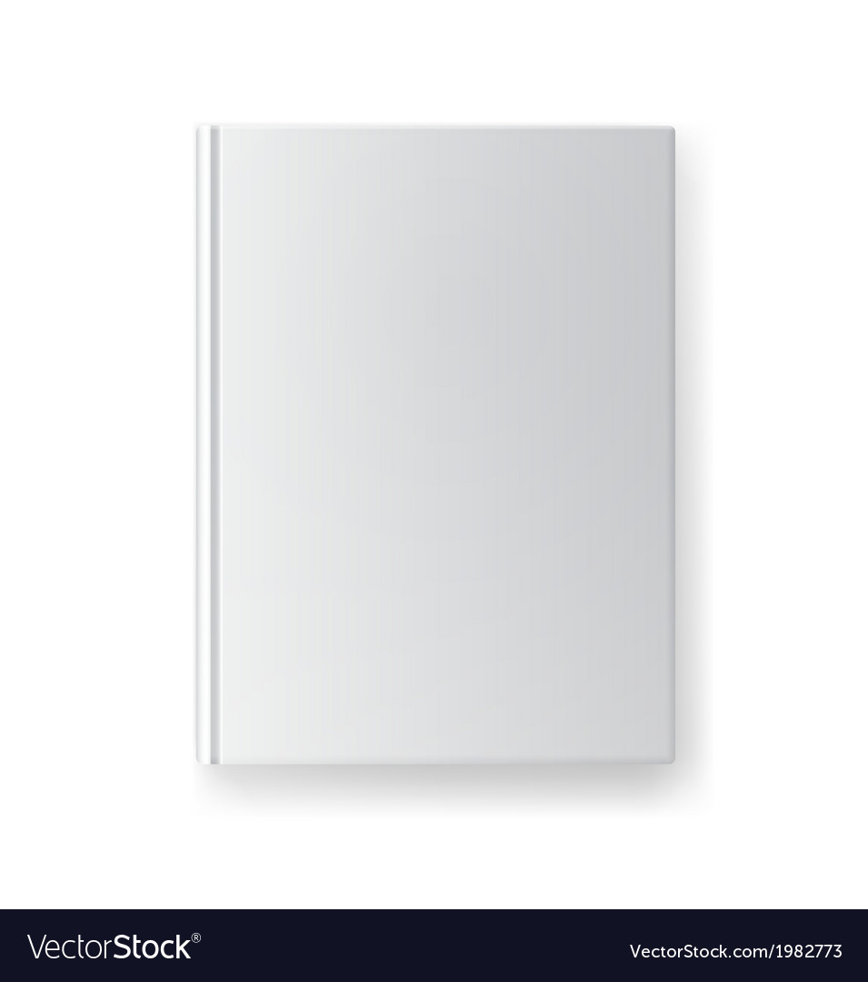Blank book cover template vector | Price: 1 Credit (USD $1)