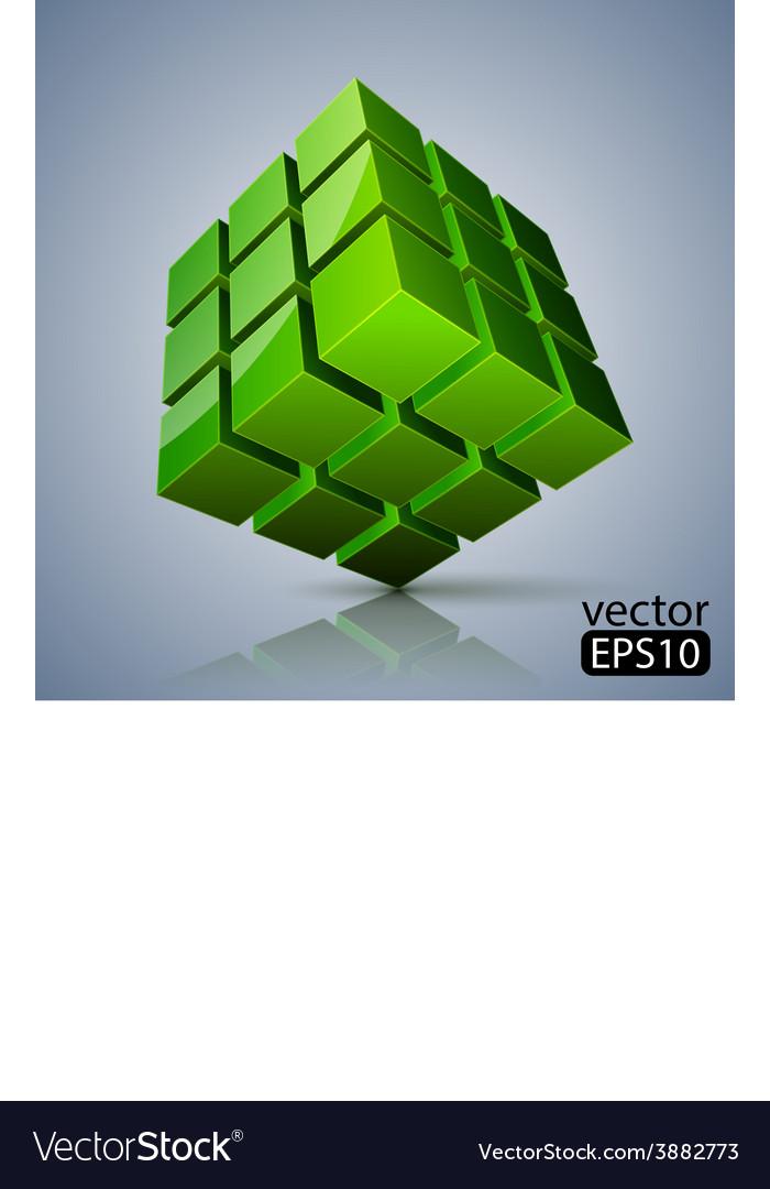 Cube 3d vector | Price: 1 Credit (USD $1)