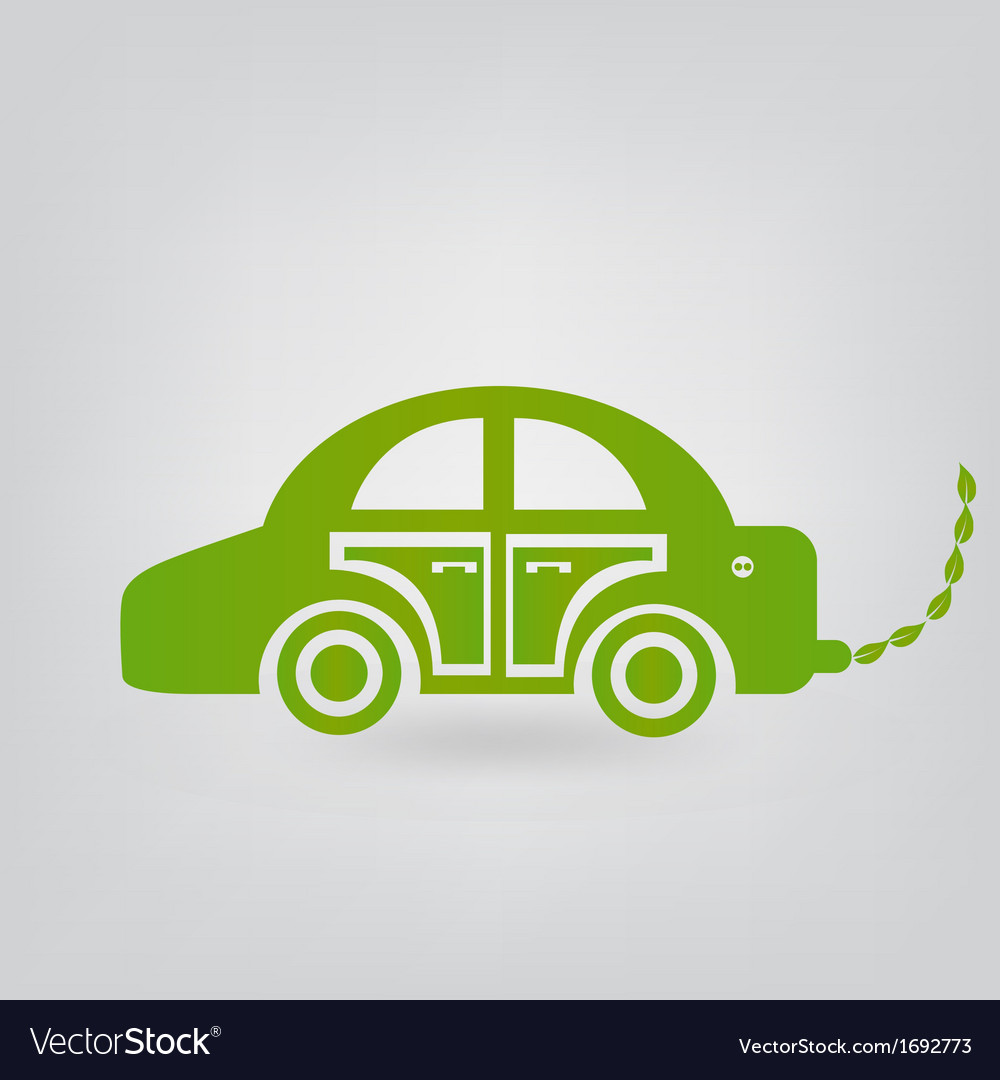 Ecologic car vector | Price: 1 Credit (USD $1)