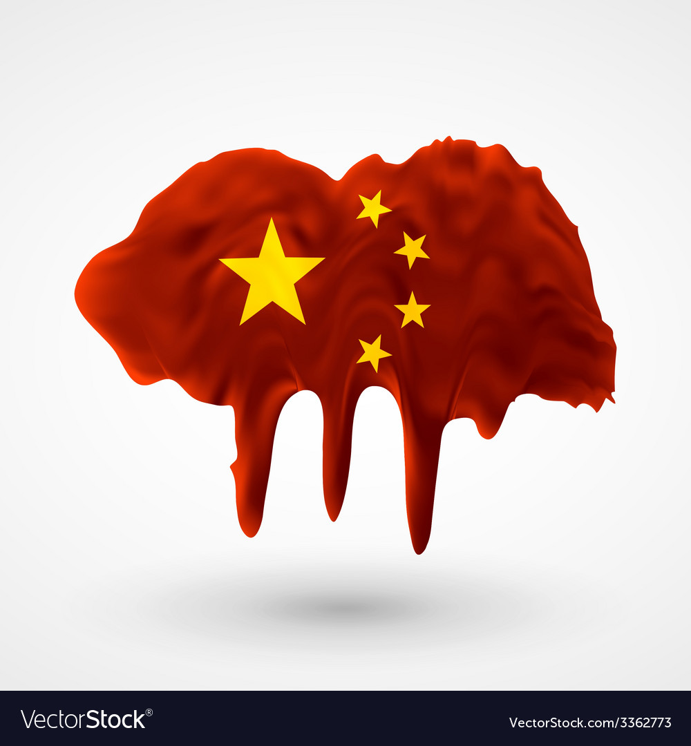 Flag of china painted colors vector | Price: 3 Credit (USD $3)