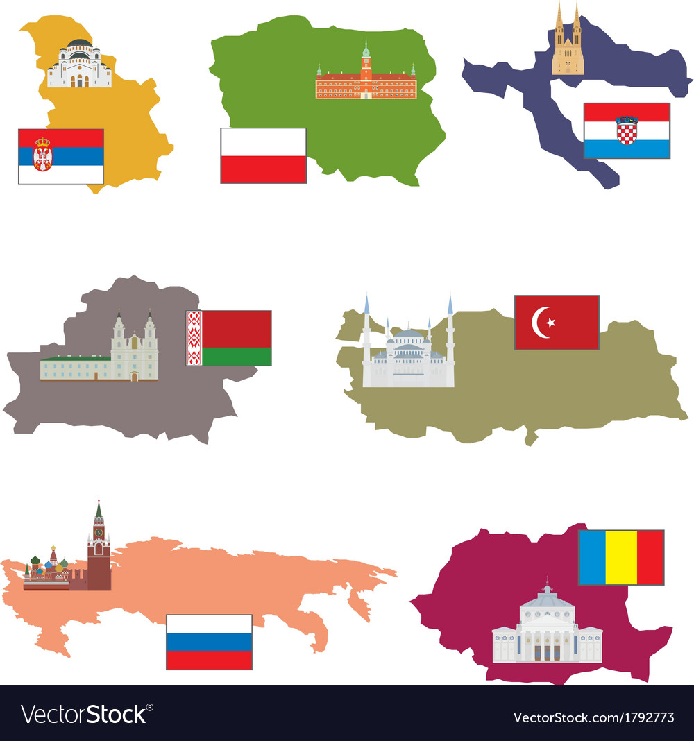 Flags and countries vector | Price: 1 Credit (USD $1)