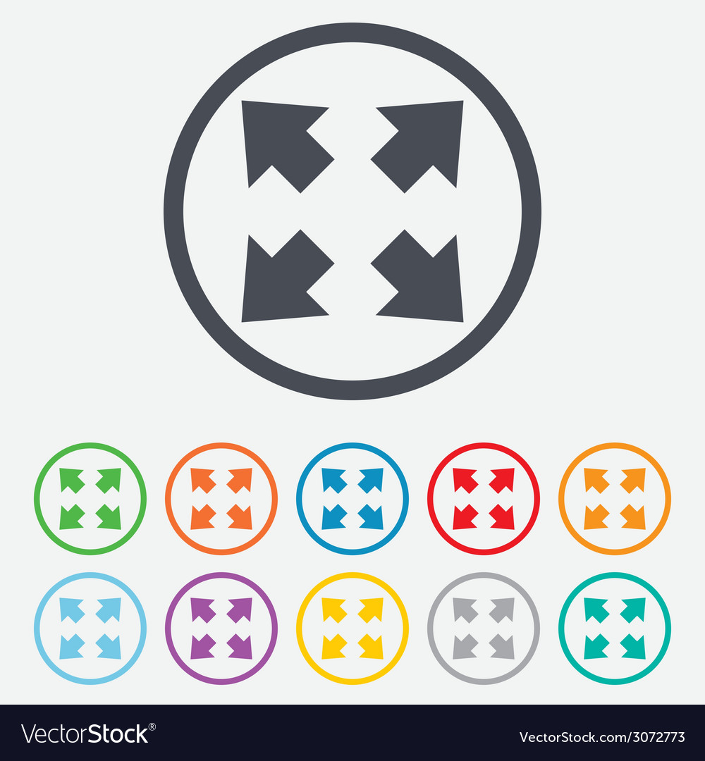 Fullscreen sign icon arrows symbol vector | Price: 1 Credit (USD $1)