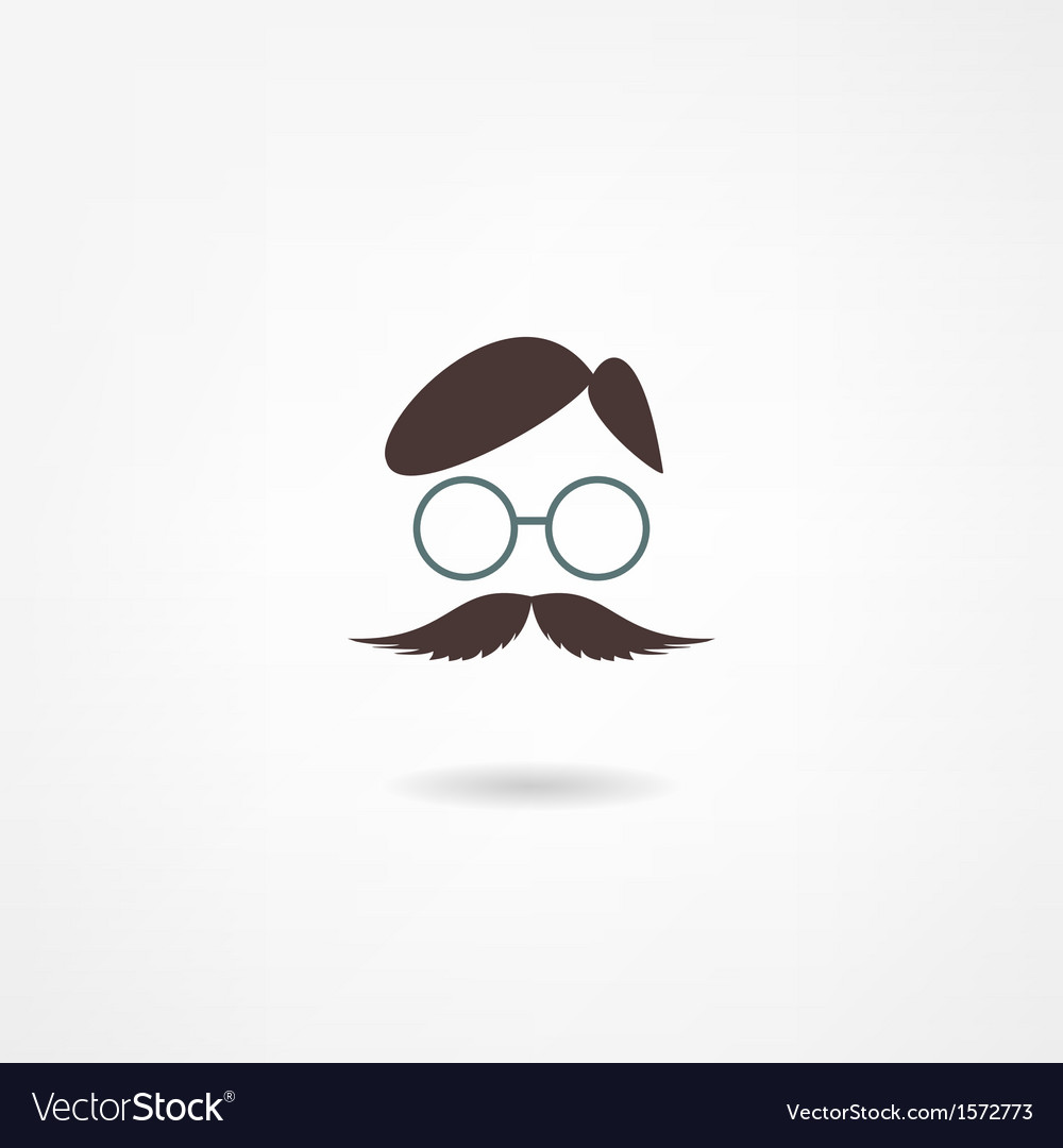 Man mustache icon vector | Price: 1 Credit (USD $1)