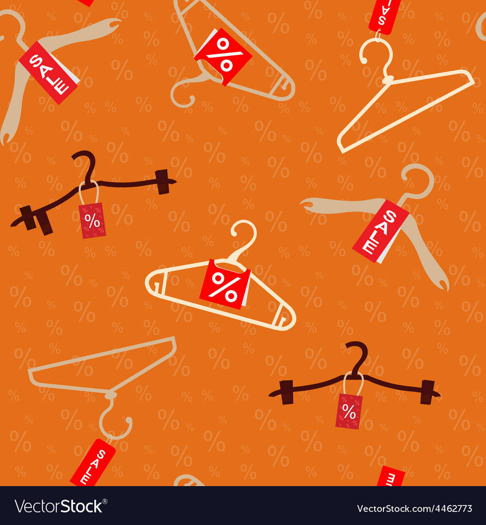 Pattern with hangers vector | Price: 1 Credit (USD $1)