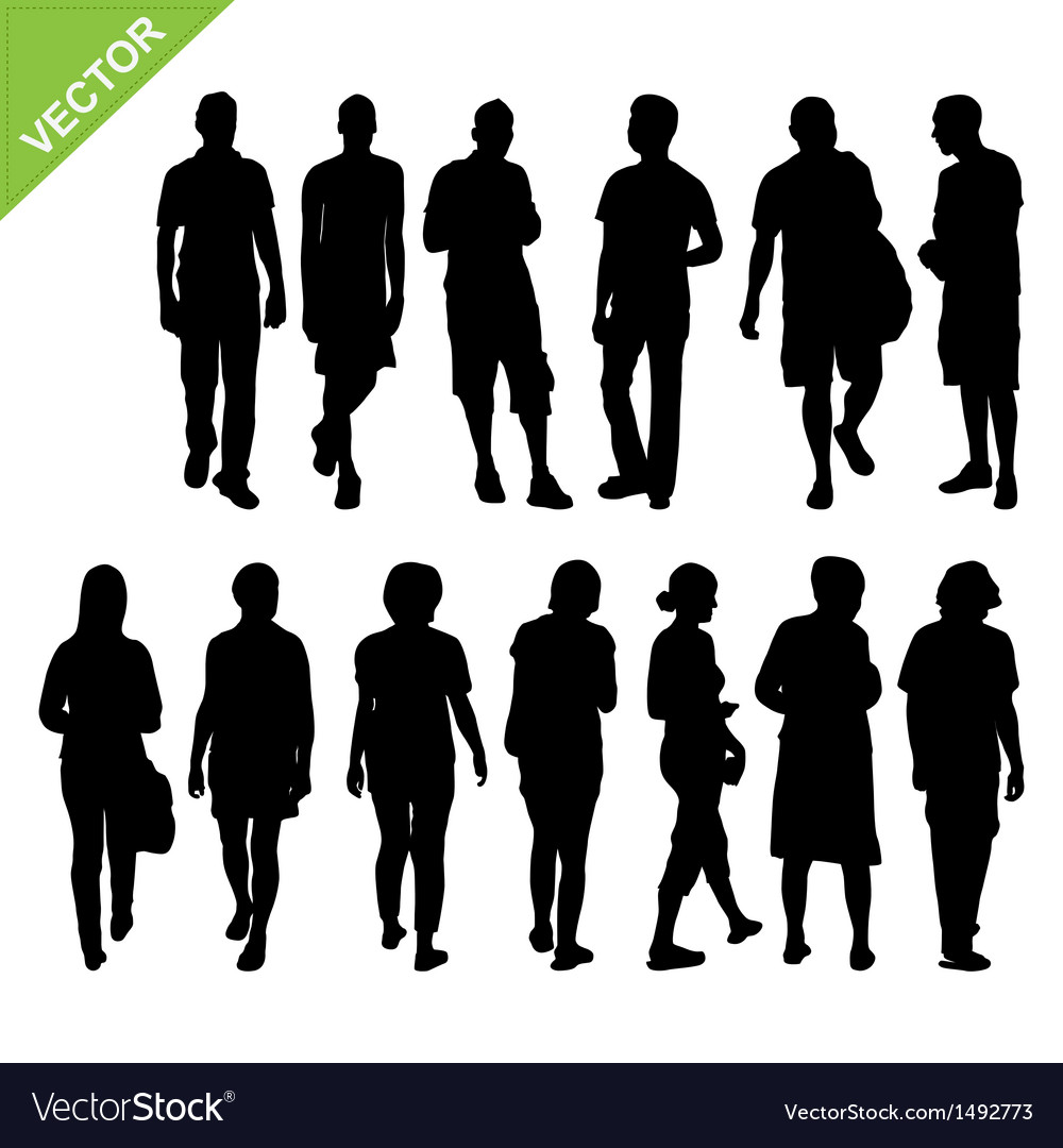 Peoples silhouettes vector | Price: 1 Credit (USD $1)