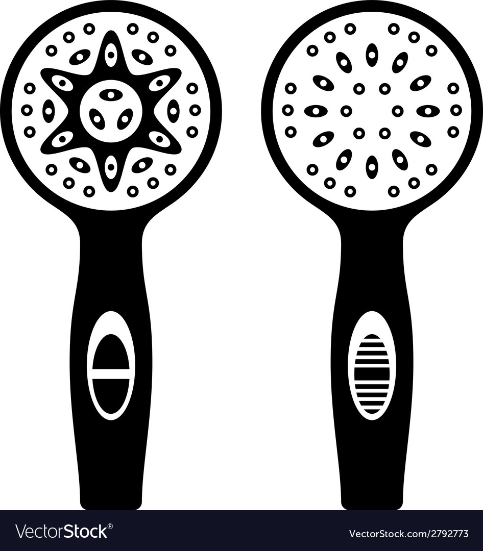 Shower head black symbols vector | Price: 1 Credit (USD $1)