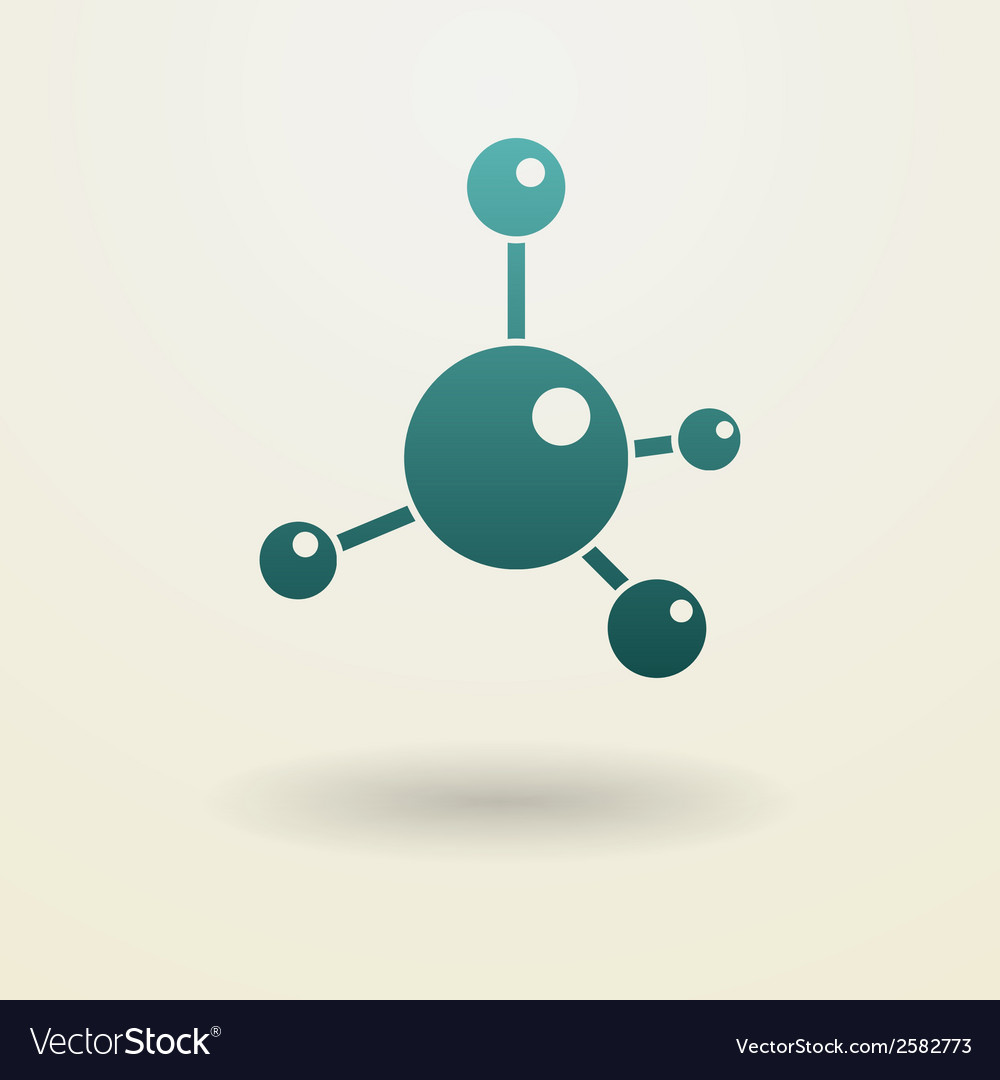 Simple molecule icon vector | Price: 1 Credit (USD $1)